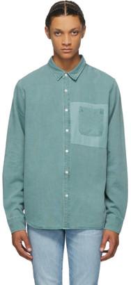 Frame Green Tonal Blocking Shirt