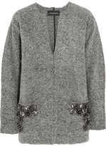 By Malene Birger Francoise Embellished Boiled Wool-blend Sweater - Gray