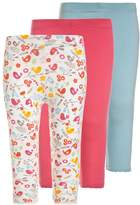 Mothercare BIRD BABY 3 PACK Leggings blue