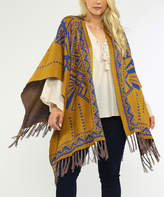 Flying Tomato Brown Fringe Cape - Plus
