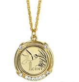 American Coin Treasures Gold-Layered Hummingbird Coin Pendant