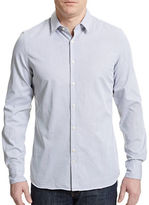 J. Lindeberg Washed Dobby Weave Dress Shirt
