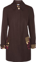 Moschino Cheap & Chic Moschino Cheap and Chic Print-trimmed cotton jacket