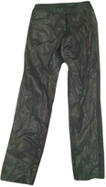 Isabel Marant Green leather trouser