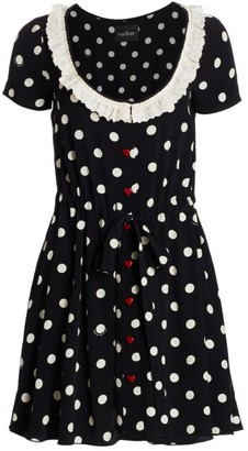 Marc Jacobs The Polka Dot Scoopneck Dress