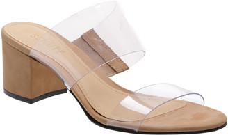 Schutz Victorie Vinyl Slide Sandals