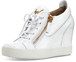 Giuseppe Zanotti Women's Zippered Wedge Sneakers