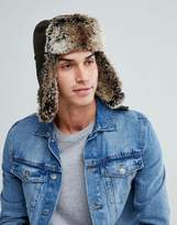 Barbour Hardwick Faux Fur Trapper In Olive