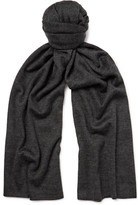 Isaia Cashmere And Silk-blend Scarf - Charcoal