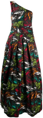 Missoni Off-Shoulder Printed Flared Gown