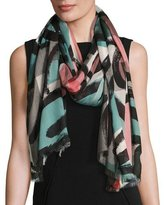 Burberry Painterly Dash Check Scarf, Multicolor