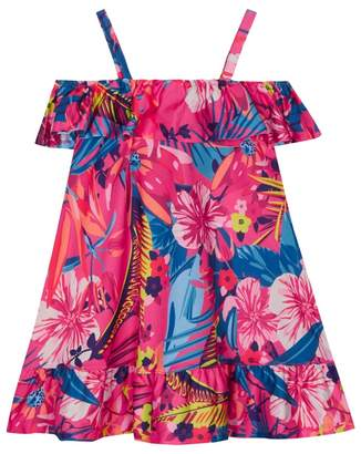 bluezoo - 'Girls' Multi-Coloured Tropical Floral Print Dress