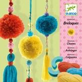 Djeco Wool, 3 beads pompons