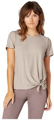 Beyond Yoga Lightweight All For Ties Tee (Sand Swept/Desert Suede) Women's Clothing