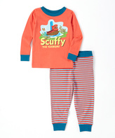 Intimo Red & Blue Scuffy the Tugboat Pajama Set - Infant