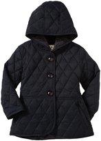 Widgeon Quilted Nylon Peplum Jacket (Toddler/Kid) - Navy-4T
