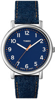 Timex 'Easy Reader' Leather Strap Watch