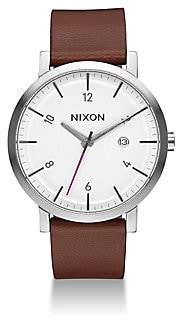 Nixon Men's Rollo Leather Strap Watch