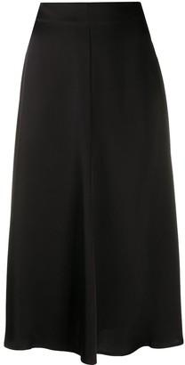 Semi-Couture Mid Length Slip Skirt
