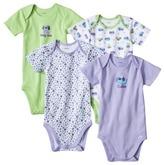 Gerber Onesies® Newborn Girls' 4 Pack Dog - Purple