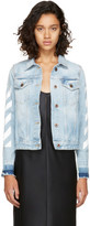 Off-White Blue Denim Diagonal Jacket