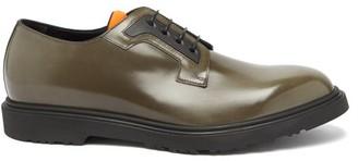 Paul Smith Mac Patent-leather Derby Shoes - Khaki