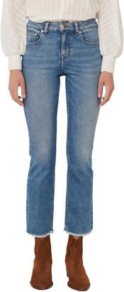 Maje Frayed Crop Jeans