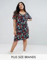 Junarose Floral Printed Shift Dress
