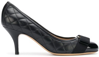 Salvatore Ferragamo quilted bow pumps