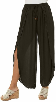 Angie SELF TIE Pants Black