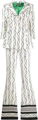 Elisabetta Franchi Chain Print Two Piece Suit