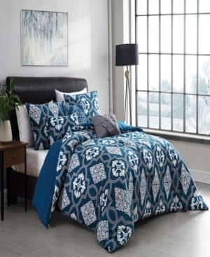 Geneva Home Fashion Lawton Reversible 5-Piece Twin Comforter Set Bedding