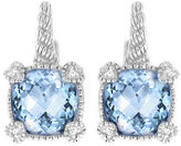 Judith Ripka La Petite Cushion Stone Earring on wire