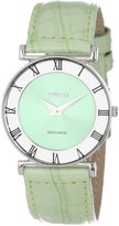 Jowissa Women's J2.020.M Roma Pastell Mint Sunray Dial Leather Watch