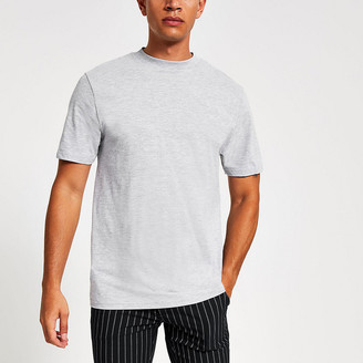 River Island Light grey short sleeve T-shirt