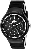 Lacoste Men's 'Borneo' Quartz Resin and Silicone Casual Watch, Color:Black (Model: 2010870)