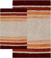 Asstd National Brand Chesapeake Merchandising Tuxedo Stripe 2-pc. Bath Rug Set