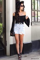 Forever 21 FOREVER 21+ Frayed Hem Denim Mini Skirt