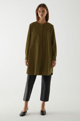 Cos A-Line Cotton Corduroy Shirt Dress