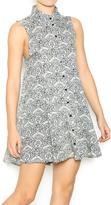En Creme Printed Sleeveless Dress