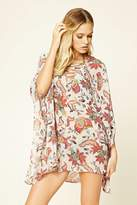 Forever 21 FOREVER 21+ Abstract Floral Cover-Up Kaftan
