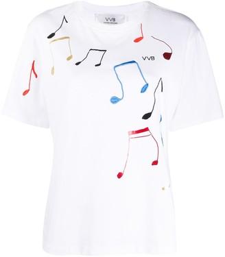 Victoria Victoria Beckham music notes print T-shirt