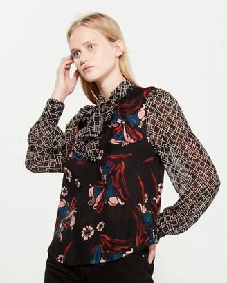 Joie Kanela Long Sleeve Silk Blouse