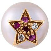 Carolina Bucci 'Superstellar' pearl, diamond, ruby and sapphire stud earring
