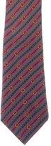 Hermes Equestrian Belt Print Silk Tie