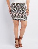 Charlotte Russe Plus Size Printed Mini Skirt