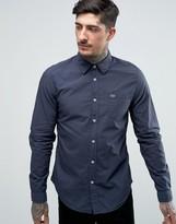 Lacoste Poplin Shirt In Blue Slim Fit