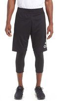 adidas Men's 'Crazylight' 2-In-1 Running Tights & Shorts