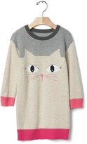 Gap Intarsia cat sweater dress