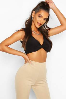 boohoo Double Layer Twist Front Crop Top